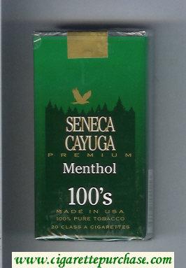 Discount Seneca Cayuga Premium Menthol 100s cigarettes soft box