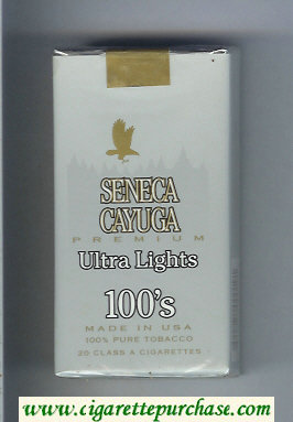 Discount Seneca Cayuga Premium Ultra Lights 100s cigarettes soft box
