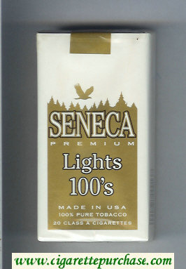 Discount Seneca Premium Lights 100s cigarettes soft box
