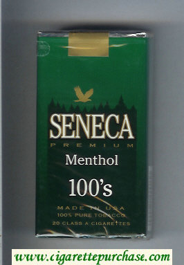 Discount Seneca Premium Menthol 100s cigarettes soft box