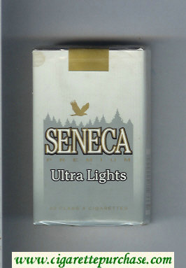 Discount Seneca Premium Ultra Lights cigarettes soft box