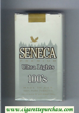 Discount Seneca Premium Ultra Lights 100s cigarettes soft box