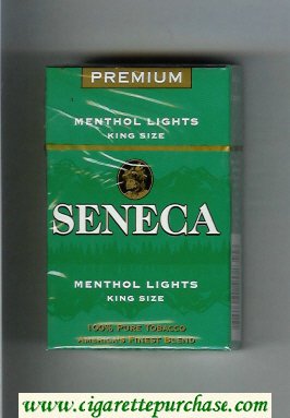 Discount Seneca Menthol Lights cigarettes hard box