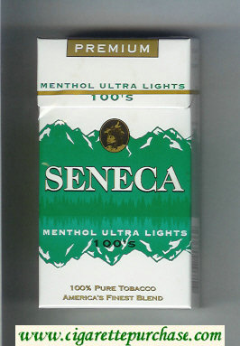 Discount Seneca Menthol Ultra Lights 100s cigarettes hard box