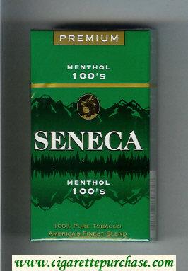 Discount Seneca Menthol 100s cigarettes hard box