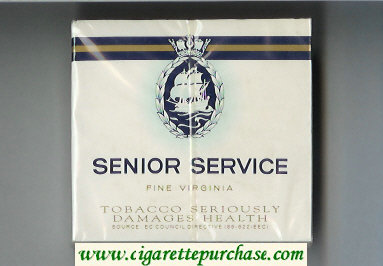 Discount Senior Service Fine Virginia cigarettes wide flat hard box