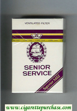 Senior Service Superiar Mild Ventilated Filter cigarettes hard box
