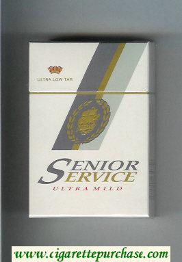 Senior Service Ultra Mild Ultra Low Tar cigarettes hard box
