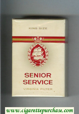 Senior Service cigarettes hard box