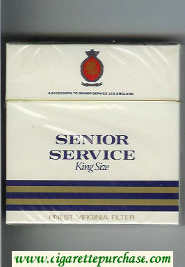 Senior Service King Size 30 cigarettes hard box