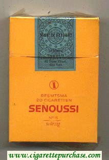 Discount Senoussi hard box cigarettes