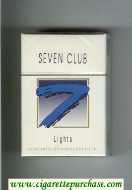 Seven Club 7 Lights cigarettes hard box
