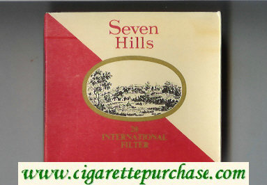 Seven Hills cigarettes wide flat hard box