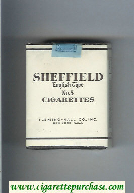 Sheffield English Type No 5 Cigarettes soft box