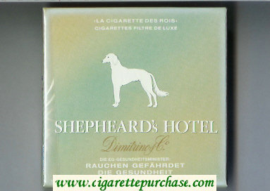 Shepheard's Hotel Cigarettes wide flat hard box