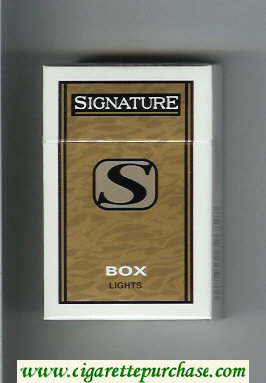 Signature S Lights cigarettes hard box