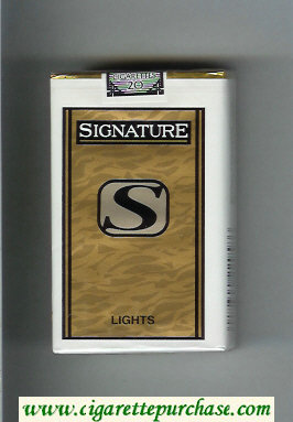Signature S Lights cigarettes soft box