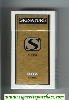 Signature S Lights 100s cigarettes hard box