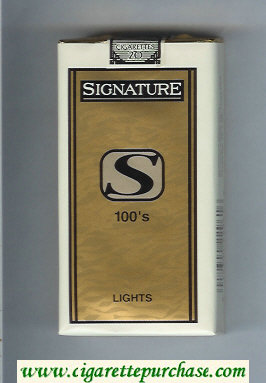 Signature S Lights 100s cigarettes soft box
