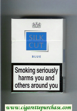 Discount Silk Cut Blue cigarettes white and blue hard box