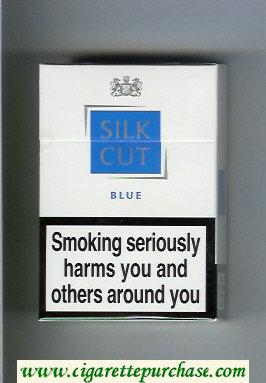 Discount Silk Cut Blue cigarettes white and blue hard box