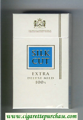 Discount Silk Cut Extra Deluxe Mild 100s cigarettes white and blue hard box