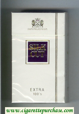 Discount Silk Cut Extra 100s cigarettes white and violet hard box