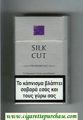 Discount Silk Cut Premium Cut 100s cigarettes silver and violet hard box