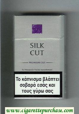 Discount Silk Cut Premium Cut 100s cigarettes silver and violet hard box