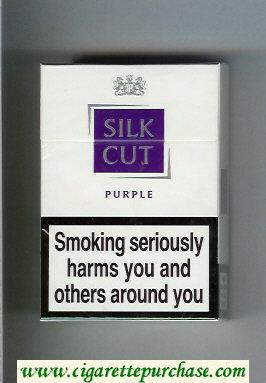 Discount Silk Cut Purple cigarettes white and violet hard box