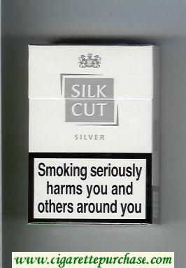 Discount Silk Cut Silver cigarettes white and silver hard box