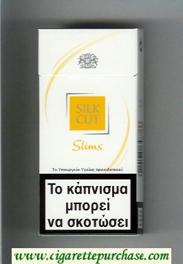 Silk Cut Slims 100s cigarettes white and yellow hard box