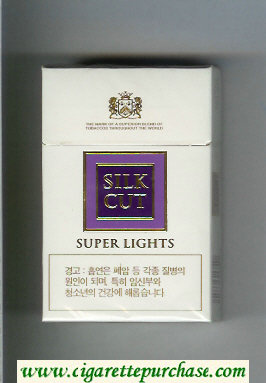 Discount Silk Cut Super Lights cigarettes white and violet hard box