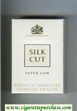 Discount Silk Cut Super Low cigarettes white and white hard box