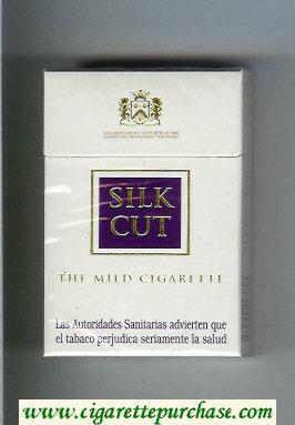 Discount Silk Cut The Mild Cigarette cigarettes white and violet hard box
