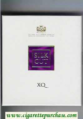 Discount Silk Cut XQ 100s cigarettes white and violet wide flat hard box
