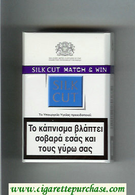 Discount Silk Cut cigarettes white and blue hard box