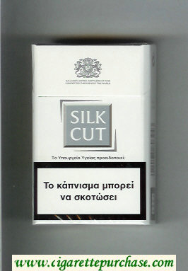 Discount Silk Cut cigarettes white and silver hard box