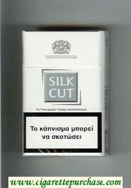 Discount Silk Cut cigarettes white and silver hard box
