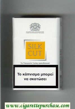 Discount Silk Cut cigarettes white and yellow hard box