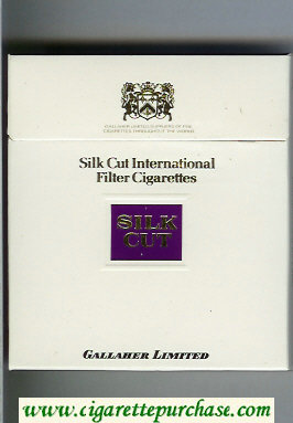 Discount Silk Cut 100s cigarettes white and violet wide flat hard box