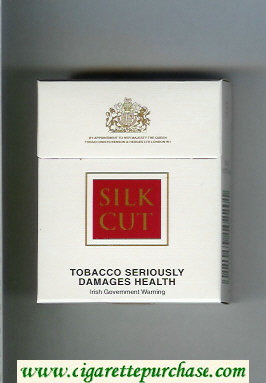 Discount Silk Cut cigarettes white and red hard box