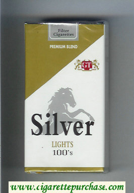 Silver Lights 100s Premium Blend cigarettes soft box
