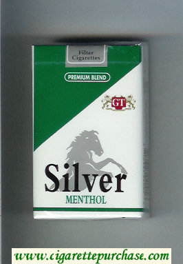 Silver Menthol Premium Blend cigarettes soft box