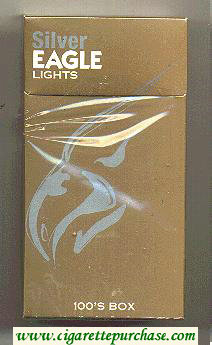 Discount Silver Eagle Lights 100s BOX cigarettes hard box
