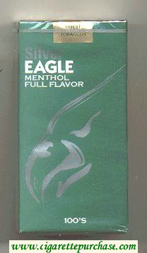 Discount Silver Eagle Menthol Full Flavor 100s cigarettes soft box