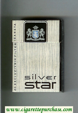 Silver Star cigarettes hard box