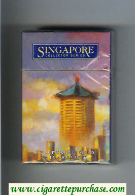 Singapore Collector Series Special Mild cigarettes hard box