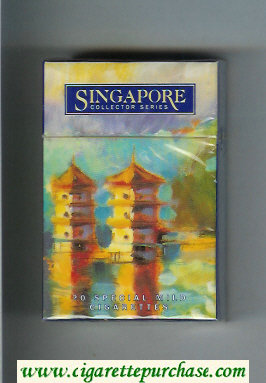 Singapore Collector Series Special Mild hard box cigarettes