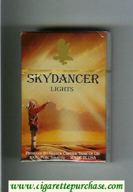 Skydancer Lights cigarettes hard box